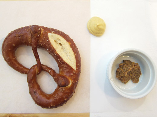 Pretzel & Mustard ($3.5): A big ass, warm soft pretzel served with mustard.