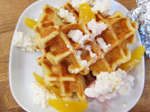 Harvest features a rotating selection of homemade waffles