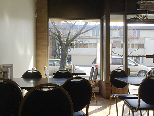 A picturesque view of Fraser Street from Jethro's dining room.