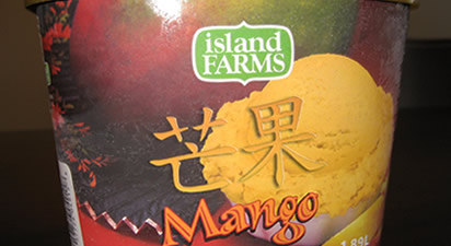 Island Farms Mango Ice Cream