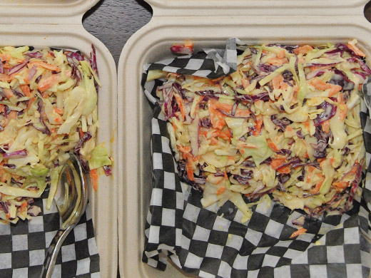 Lightly dressed, fresh and crispy house-made slaw.