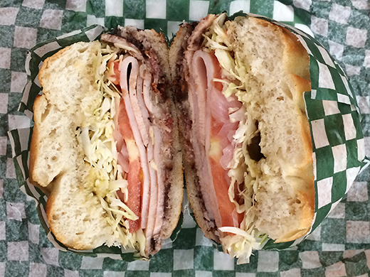 Pavo Con Tocino Y Queso$8.50 - Sliced turkey breast with bacon and cheese.